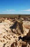 Den kinesiska väggen i Mungo National Park, Australien Arkivbild