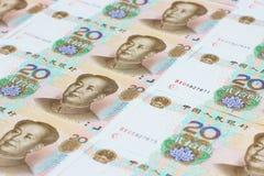 Den kinesiska valutan Fotografering för Bildbyråer
