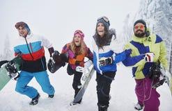 den kiting floden skidar snöig sportvinter Royaltyfria Foton