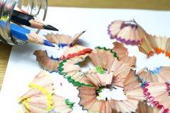 Den klara skarpa blyertspennan Royaltyfria Bilder