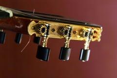 den klassiska gitarren heads maskinen Arkivfoto