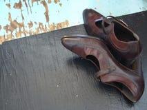 Den klassiska höjdpunkten heeled skor Arkivfoton