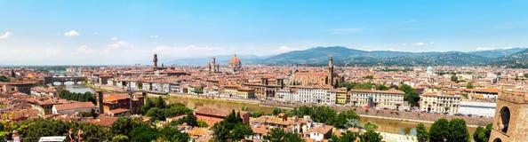 Den klassiska horisonten av Firenze Arkivfoto