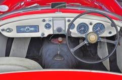 Den klassiska kabinen av MG modellen MGA Arkivfoto