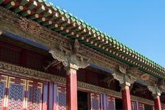 Den klassiska kinesen taklägger Arkivfoto