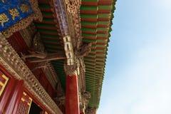 Den klassiska kinesen taklägger Arkivbilder