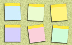 Den klibbiga anmärkningen många färgar stock illustrationer