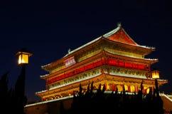 Den Klocka valsen står högt xian Fotografering för Bildbyråer