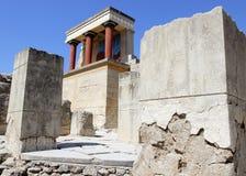 Den Knossos slotten fördärvar crete greece heraklion Arkivbilder