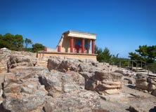 Knossos slott på Crete, Grekland. Royaltyfri Fotografi