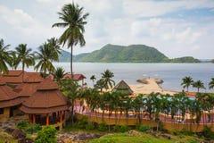 Den Koh Chang Paradise Resort &Spaen är en romantiker, fridsamt sanctuar Arkivfoto