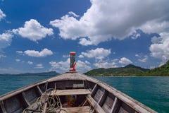 Den Koh Hong ön är berömd turnerar lagun i andamanhavet, Krabi, Thailand Arkivfoto