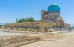 Den Kok Gumbaz moskén i Shahrisabz Arkivfoton