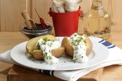 den kokt ostmassautgångspunkten gjorde potatisen arkivfoton