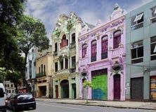 Den koloniala stilen av arkitektur Rio de Janeiro Arkivfoton