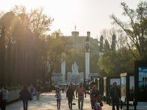 Den koloniinvånareChapultepec slotten, sikter, kulle, parkerar Fotografering för Bildbyråer