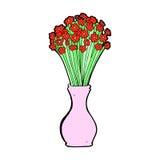 den komiska tecknade filmen blommar i kruka Royaltyfri Fotografi
