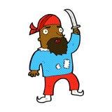 den komiska tecknade filmen piratkopierar Royaltyfri Bild