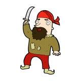 den komiska tecknade filmen piratkopierar Royaltyfri Fotografi