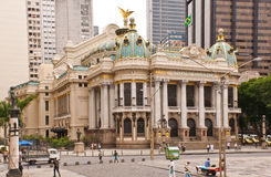 Den kommunala theatren i Rio de Janeiro Arkivbilder