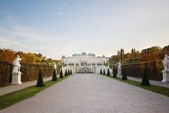 Den komplexa belvederen för slott i Wien, Österrike arkivbild