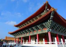 Den Konfucius templet i Kaohsiung, Taiwan Arkivbilder