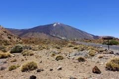 Den koniska vulkanmonteringen Teide eller El Teide Arkivbild
