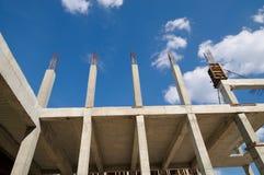 Den konkreta strukturen är under konstruktion Arkivbild