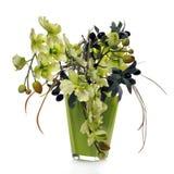 den konstgjorda blomkrukan blommar green Royaltyfria Bilder