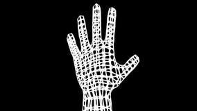 Den konstgjorda handen vänder omkring framförande 3d stock illustrationer