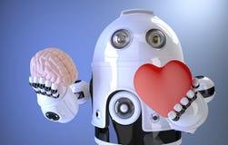 den konstgjorda hjärnan circuits mainboard för elektronisk intelligens för begrepp över Innehåller den snabba banan Royaltyfri Fotografi