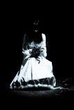 Den konstiga mystiska flickan Fotografering för Bildbyråer