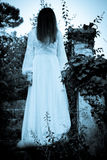 Den konstiga mystiska flickan Arkivbild