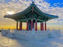 Den koreanska Klockan av kamratskap San Pedro California Arkivfoto