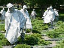 den koreanska minnesmärken kriger Arkivbild