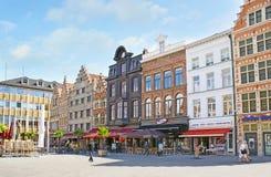 Den Korenmarkt fyrkanten i Ghent royaltyfria bilder