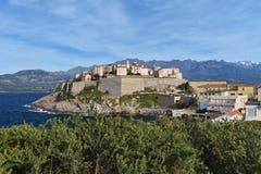 Den korsikanska citadellen av Calvi, turnerar de Sel Fotografering för Bildbyråer
