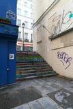 Den kortaste gatan i Paris--Ruedes Degres Fotografering för Bildbyråer