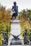 Den Kosciuszko statyn Lafayette parkerar Autumn Washington DC Fotografering för Bildbyråer