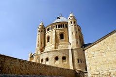 Den kristna kyrkan, gränsmärke i Jerusalem, Israel arkivbilder