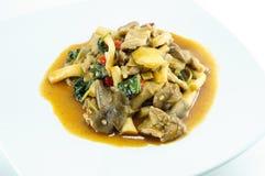 Den kryddiga thailändska maten Royaltyfri Bild