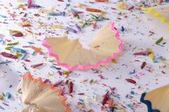 Den kulöra blyertspennan återstår Royaltyfria Foton