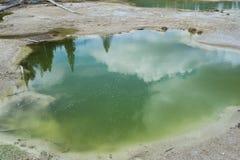 Den kulöra geyserpölen i Norris Geyser Basin Yellowstone National parkerar Royaltyfri Fotografi