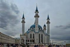 Den Kul-Sharif moskén i staden av Kazan i Tatarstan royaltyfri foto