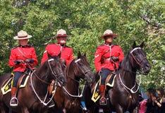 Den kunglig kanadensare monterade polisen-RCMP royaltyfria foton