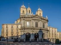 Den kungliga basilikan av San Francisco el Grande i Madrid Arkivbild
