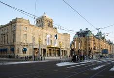Den kungliga dramatiska teatern i Stockholm, Sverige Royaltyfria Bilder