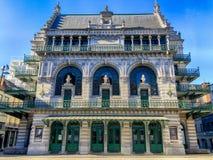 Den kungliga flaml?ndska teatern, KVT, Koninklijk Vlaams teater, p? mitten av Bryssel arkivbilder