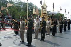 Den kungliga kremeringceremonin av prinsen Bejaratana Rajasuda Sirisobhabannavadi Fotografering för Bildbyråer