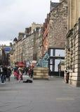 Den kungliga mil i Edinburg Fotografering för Bildbyråer